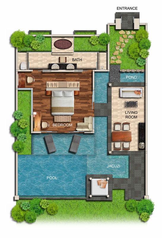 One-Bedroom Ocean Villa | Seminyak Bali Private Pool Villa