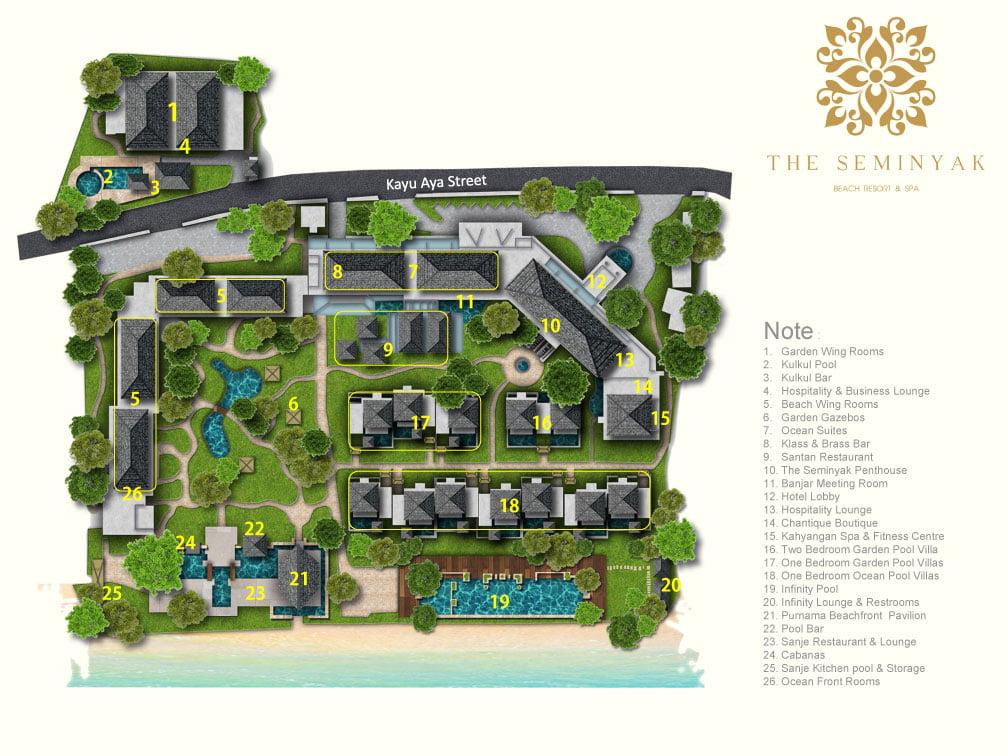 About The Seminyak Beach Resort Bali Villas Seminyak